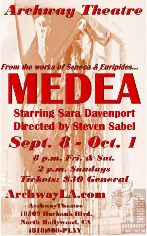 Hell Hath No Fury! MEDEA to Play Archway Theatre