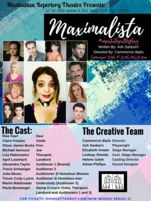 Manhattan Rep.'s MAXIMALISTA Plays Final Performance Tonight