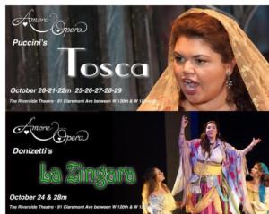 Amore Opera Presents Puccini's TOSCA and Donizetti's LA ZINGARA