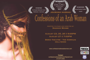 CONFESSIONS OF AN ARAB WOMAN Returns to the Complex Theatres