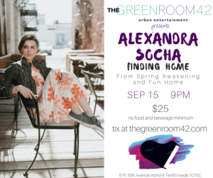 Alexandra Socha to Bring FINDING HOME to The Green Room 42