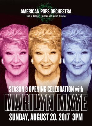 Vocal Legend Marilyn Maye to Launch American Pops Orchestra's Third Season