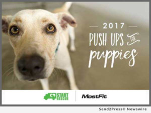 MostFit to Hold 2017 'Pushups for Puppies' Fitness Fundraiser for Southern California Animal Rescue Organization