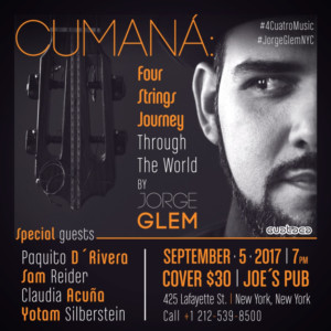 World Class Musicians Brought Together by 'Cuatro' Strings at Joe's Pub