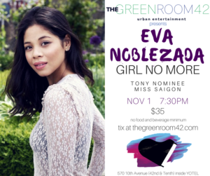 MISS SAIGON's Eva Noblezada to Bring GIRL NO MORE to The Green Room 42