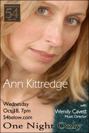 Ann Kittredge to Make Feinstein's/54 Below Debut This Fall