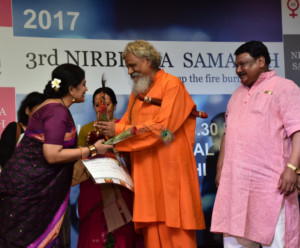 Dancer Geeta Chandran Receives NIRBHAYA PURUSKAR