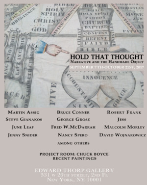 HOLD THAT THOUGHT Group Exhibit Coming Up at Edward Thorp Gallery