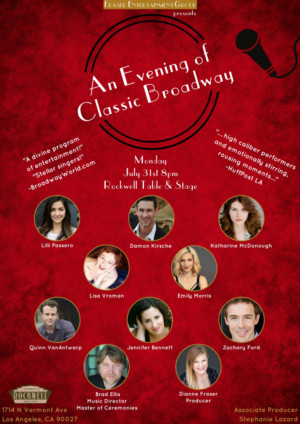 Cast Announced for 20th 'EVENING OF CLASSIC BROADWAY' at Rockwell