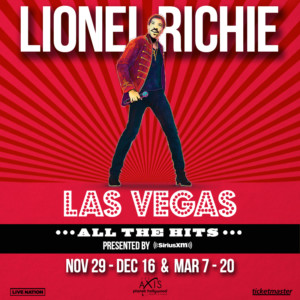 Lionel Richie Announces New Dates For LIONEL RICHIE: ALL THE HITS At Planet Hollywood Resort & Casino