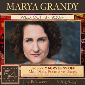 Marya Grandy to Make Solo Debut at Feinstein's/54 Below