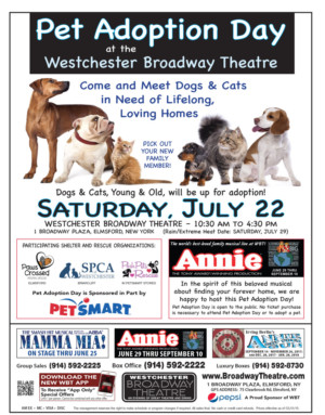 Pet Adoption Day Brings Furry Friends to Westchester Broadway Theatre