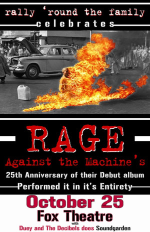 RALLY 'ROUND THE FAMILY A Tribute to Rage Against the Machine Comes to Fox Theatre 10/25