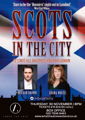 Shona White and Kieran Brown to Lead SCOTS IN THE CITY at the Arts Theatre