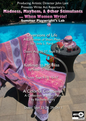 Write Act Rep to Present Summer Women's Playwrights Lab 'MADNESS, MAYHEM, AND OTHER STIMULANTS'