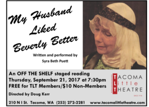 Tacoma Little Theatre presents MY HUSBAND LIKED BEVERLY BETTER