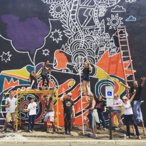 Local Arts Organizations Team with Youth to Paint Community Mural in Red Bank