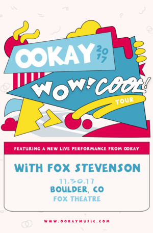 Ookay to Bring 'Wow! Cool!' Tour to the Fox This Fall