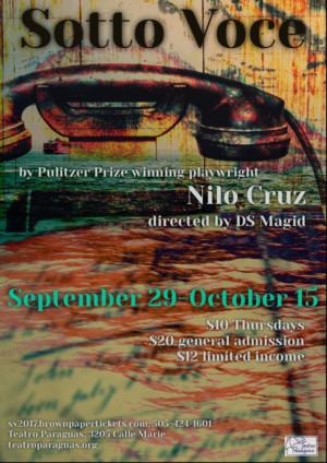 SOTTO VOCE Comes to Teatro Paraguas