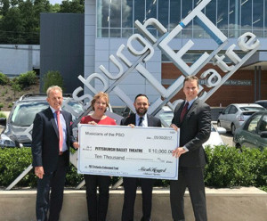 Pittsburgh Symphony Musicians Gift $10,000 to Pittsburgh Ballet Theatre Orchestra Endowment