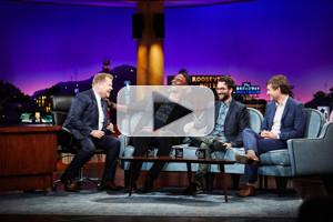 VIDEO: Chris Bosh, Jay Duplass & Mark Duplass Have a Trashcan Shootout on CORDEN