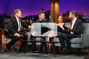VIDEO: Jeremy Renner, Aubrey Plaza, and Chris O'Dowd Visit LATE LATE SHOW