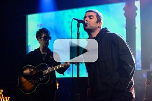 VIDEO: Liam GallagherPerforms 'Wall Of Glass' on LATE SHOW