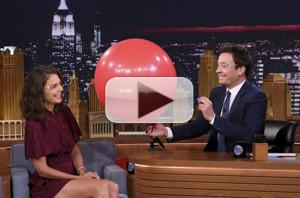 VIDEO: Katie Holmes Talks Thrill-Seeking Family Vacation on TONIGHT SHOW