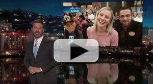 VIDEO: Jimmy Kimmel Talks to Kristen Bell Live in Orlando After Hurricane Irma