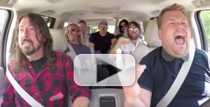 VIDEO: Foo Fighters Join James Corden for Latest CARPOOL KARAOKE