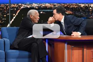 VIDEO: Morgan Freeman & Stephen Colbert Bond Over Passion for Sci-Fi