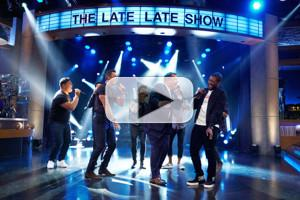 VIDEO: Usher & Luke Evans Challenge James to Sexiest Male Vocalist Riff-Off