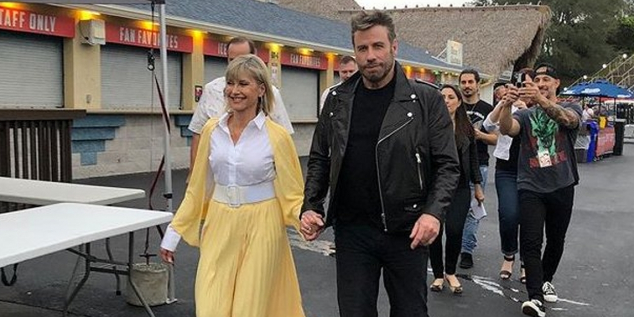 Photo: Olivia Newton-John and John Travolta Don GREASE Costumes For Film Sing-A-Long