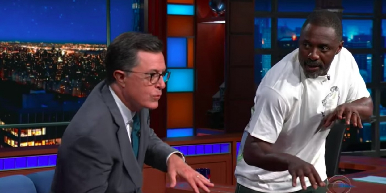 VIDEO: Idris Elba Teaches Stephen Colbert Some CATS Moves