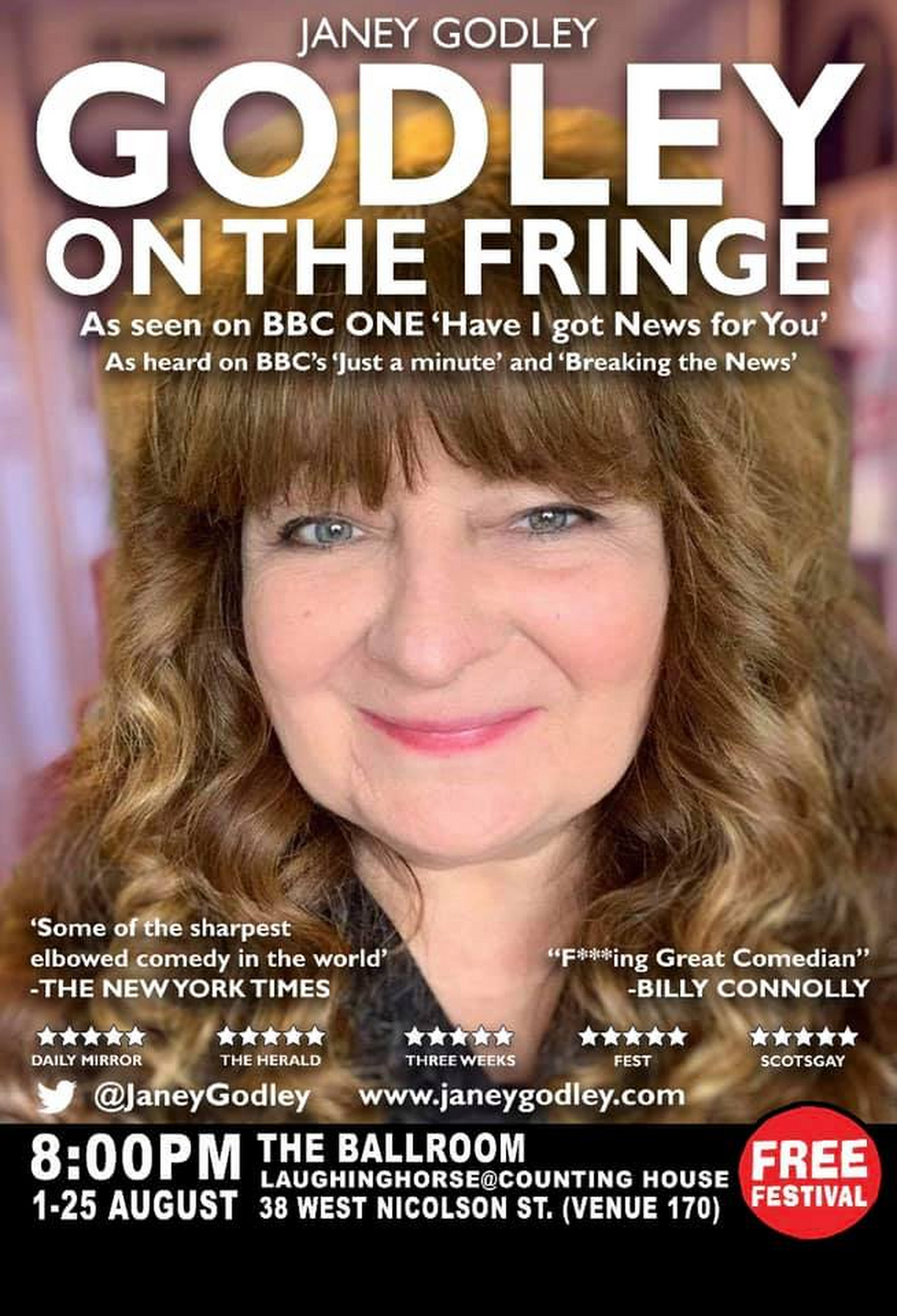 EDINBURGH 2019: BWW Review: GODLEY ON THE FRINGE, Laughing Horse @ The Counting House