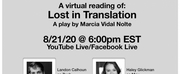 Virtual Reading of LOST IN TRANSLATION By Marcia Vidal Nolte Announced August 21 Photo