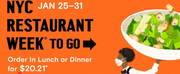 NYC & Company Launches NYC RESTAURANT WEEK® To-Go on 1/25 Photo