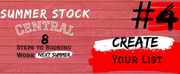 Student Blog: Summer Stock Central: Step #4 | Create Your List
