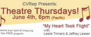 Coachella Valley Repertory Theatre Presents Theatre Thursdays with Leslie Tinnaro