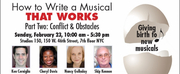Theater Resources Unlimited Will Present Workshop \