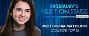 Meet the Next on Stage Top 15 Contestants - Sophia Matteucci