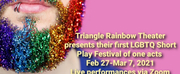 Triangle Rainbow Theaters LGBTQ Short Play Festival Presents Live Performances On Zoom Photo