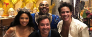 Photo Flash: Jimmy Fallon Stops By ALADDIN On Broadway!