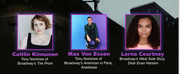 Caitlin Kinnunen, Max Von Essen,  Adam Kantor and More to Perform at the McKinley Amphithe