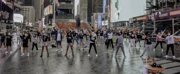 Photo Flash: Rob McClure, Dee Roscioli, Charl Brown and More Reunite in Times Square to Pa Photo