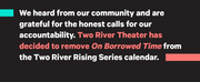 Two River Theater Cancels ON BORROWED TIME Benefit Reading After Criticisms of its Nearly  Photo