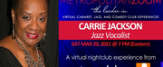 MetropolitanZoom Presents Carrie Jackson Performing The Great American Songbook Photo