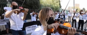 VIDEO: Israel Philharmonic Orchestra Performs Outside Knesset, Protesting the Governments  Photo
