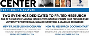 This Fall, Sheen Center Presents Events Celebrating Fr. Ted Hesburgh, And Women In Sports Combating Climate Change