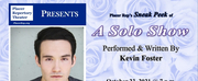 Placer Repertory Theater to Present Sneak-Peek Reading of Kevin Fosters New Solo Show
